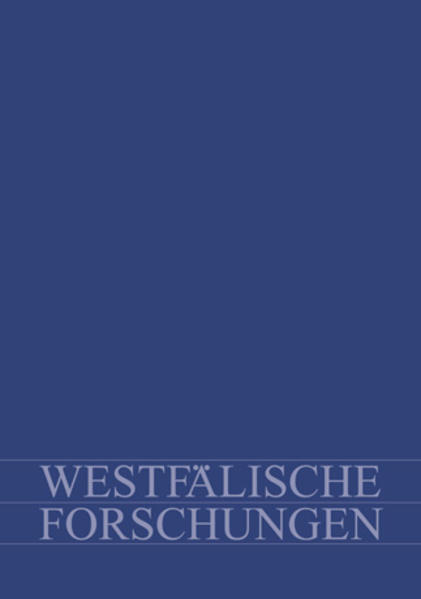 Westfälische Forschungen. Zeitschrift des Westfälischen Instituts... / Westfälische Forschungen - Coverbild