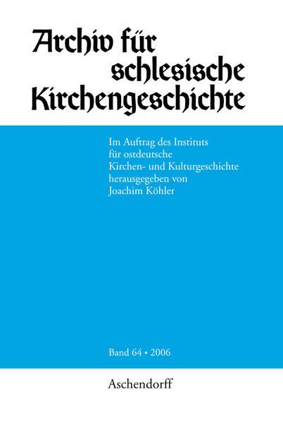 Archiv für Schlesische Kirchengeschichte - Coverbild