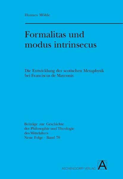 Formalitas und modus intrinsecus - Coverbild