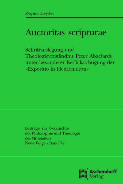 Auctoritas scripturae - Coverbild