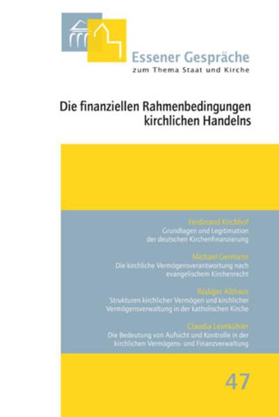 Die finanziellen Rahmenbedingungen kirchlichen Handelns - Coverbild