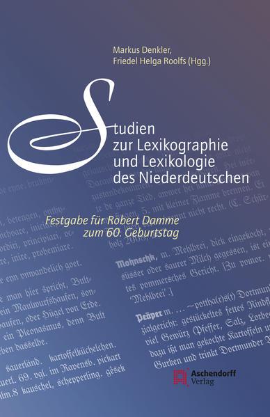 Studien zur Lexikographie und Lexikologie des Niederdeutschen - Coverbild
