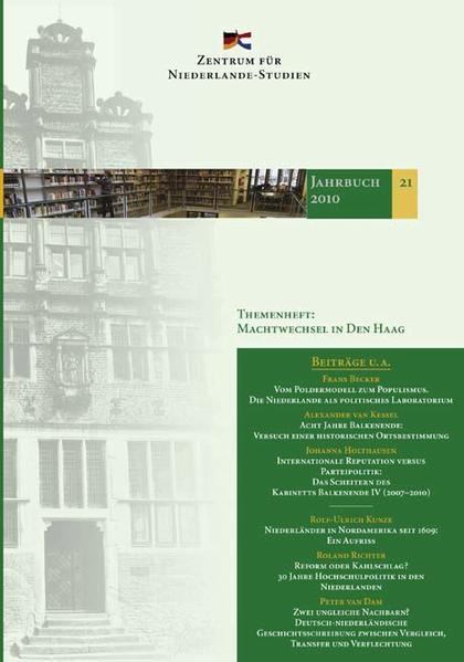 Jahrbuch des Zentrums für Niederlande-Studien 21-2010 - Coverbild