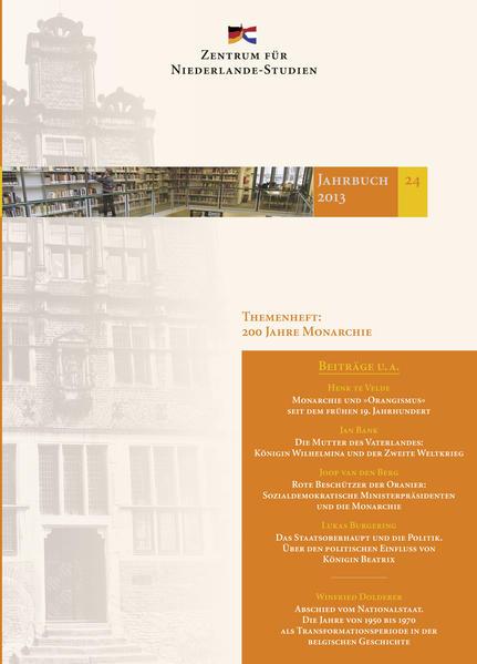 Jahrbuch 24/2013 des Zentrums für Niederlande-Studien - Coverbild