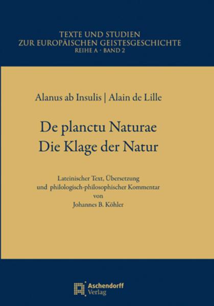 De Planctu Naturae / Die Klage der Natur - Coverbild