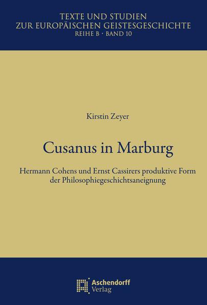 Cusanus in Marburg - Coverbild