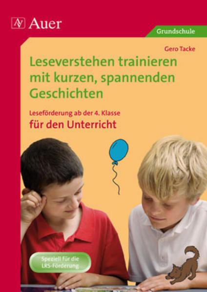 Leseverstehen trainieren, ab Klasse 4, Unterricht - Coverbild
