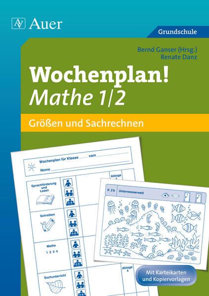 Wochenplan Mathe 1/2, Größen und Sachrechnen - Coverbild