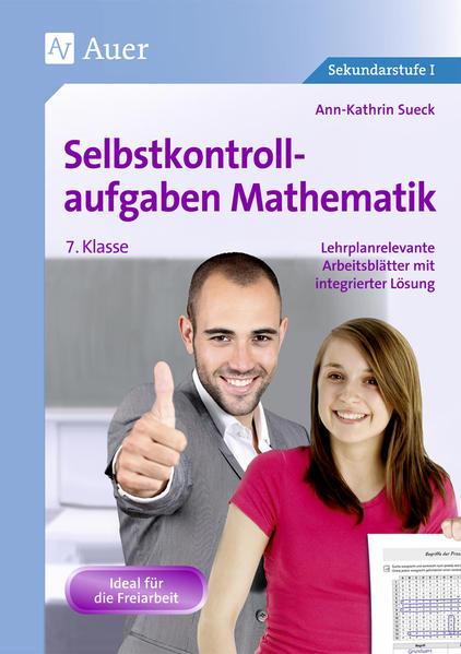 Selbstkontrollaufgaben Mathematik Klasse 7 - Coverbild