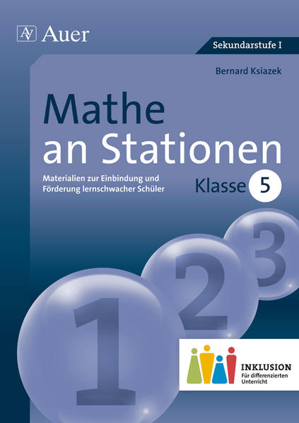Mathe an Stationen 5 Inklusion - Coverbild