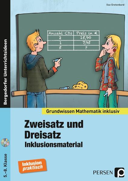 Zweisatz und Dreisatz - Inklusionsmaterial - Coverbild