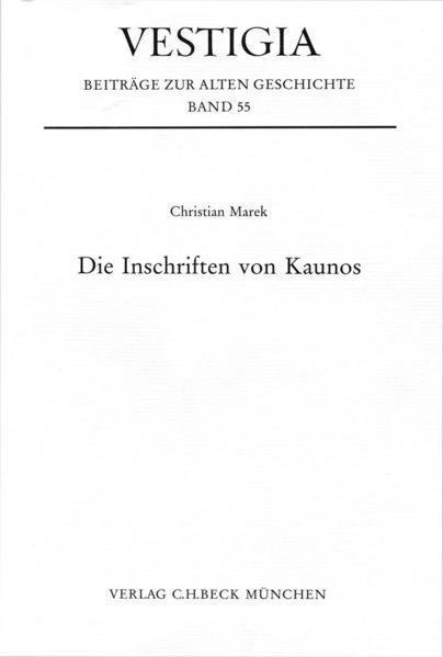 Die Inschriften von Kaunos - Coverbild