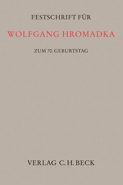 Festschrift für Wolfgang Hromadka - Coverbild