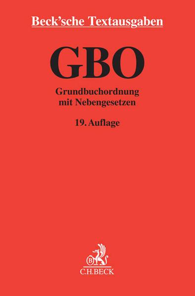 Grundbuchordnung - Coverbild
