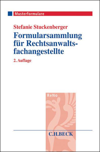 Formularsammlung für Rechtsanwaltsfachangestellte - Coverbild