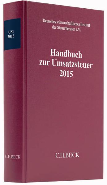Handbuch zur Umsatzsteuer 2015 - Coverbild