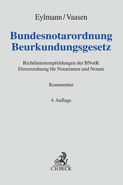 Bundesnotarordnung, Beurkundungsgesetz - Coverbild