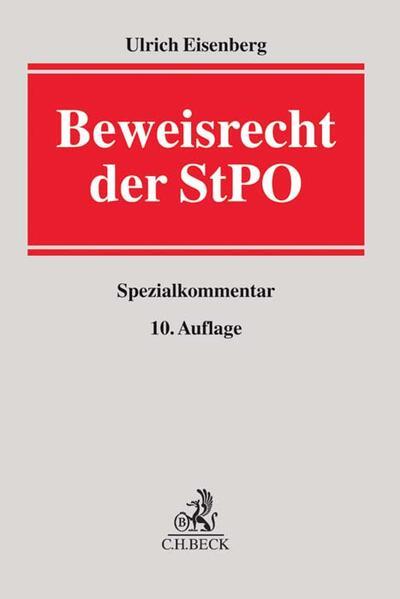 Beweisrecht der StPO - Coverbild