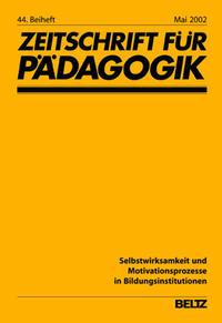 Selbstwirksamkeit und Motivationsprozesse in Bildungsinstitutionen Cover