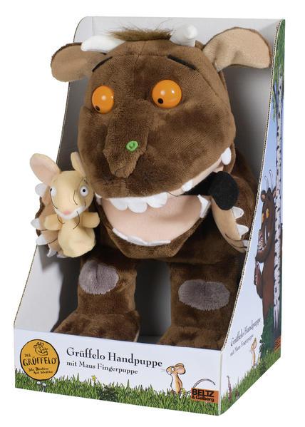 Grüffelo-Handpuppe mit Maus-Fingerpuppe Plüschtier - Coverbild