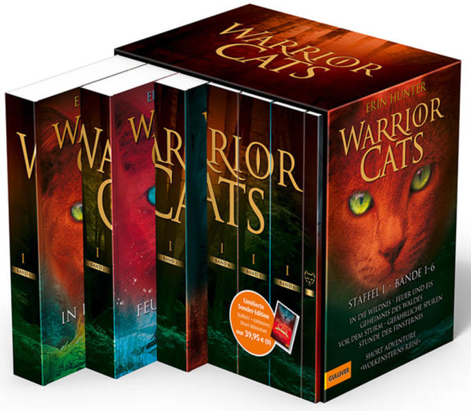 Warrior Cats. Staffel I, Band 1-6 plus exklusives Short Adventure »Wolkensterns Reise« - Coverbild