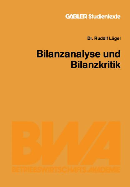 Bilanzanalyse und Bilanzkritik - Coverbild