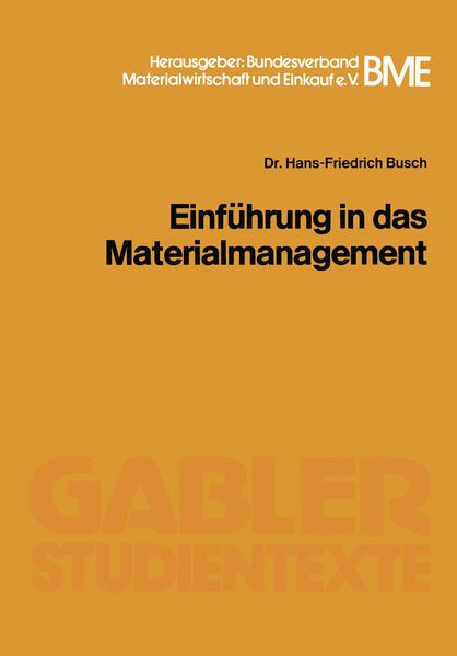 Einführung in das Materialmanagement - Coverbild
