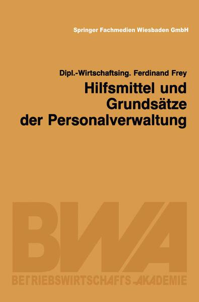 Hilfsmittel und Grundsätze der Personalverwaltung - Coverbild