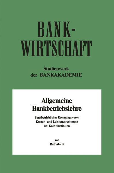 Bankbetriebliches Rechnungswesen - Coverbild