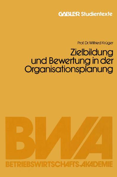 Zielbildung und Bewertung in der Organisationsplanung - Coverbild