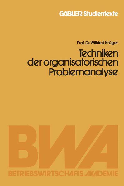 Techniken der organisatorischen Problemanalyse - Coverbild