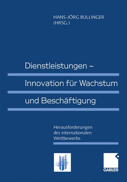 Dienstleistungen — Innovation für Wachstum und Beschäftigung - Coverbild