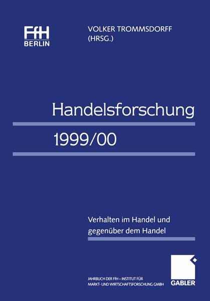 Handelsforschung 1999/00 - Coverbild