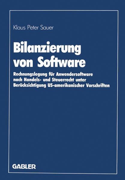 Bilanzierung von Software - Coverbild