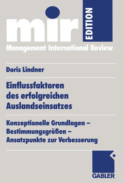Einflussfaktoren des erfolgreichen Auslandseinsatzes - Coverbild