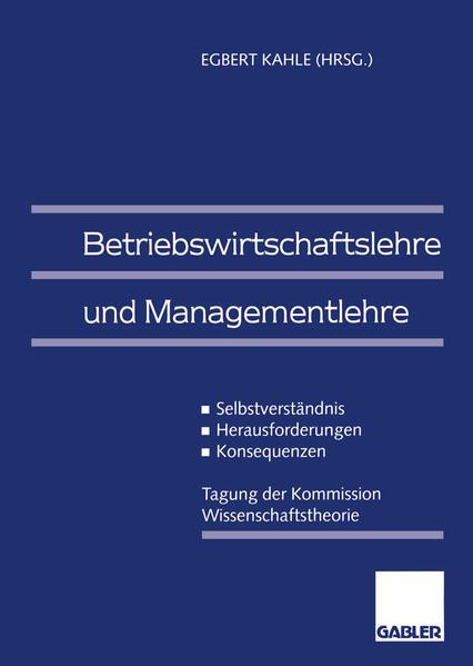 Betriebswirtschaftslehre und Managementlehre - Coverbild