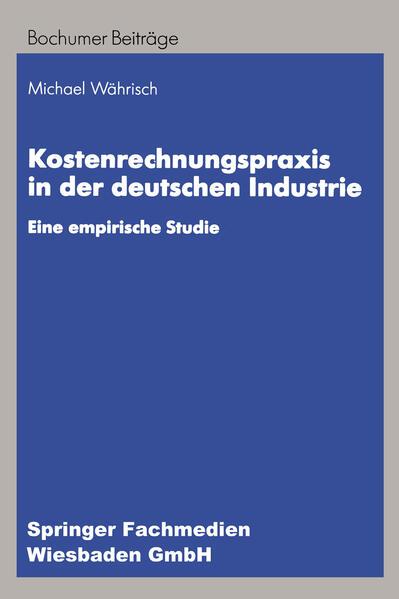 Kostenrechnungspraxis in der deutschen Industrie - Coverbild