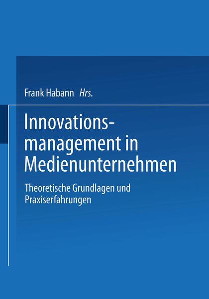 Innovationsmanagement in Medienunternehmen - Coverbild