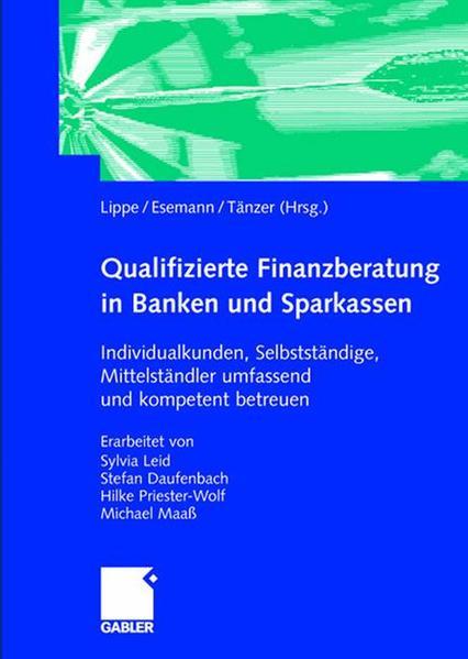 Qualifizierte Finanzberatung in Banken und Sparkassen - Coverbild