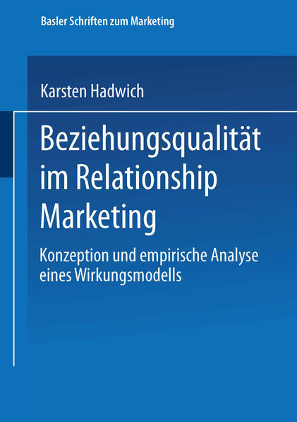 Beziehungsqualität im Relationship Marketing - Coverbild
