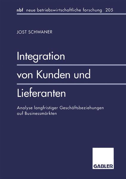 Integration von Kunden und Lieferanten - Coverbild