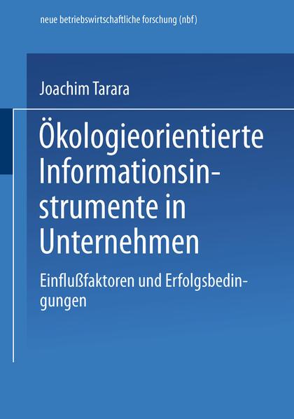 Ökologieorientierte Informationsinstrumente in Unternehmen - Coverbild