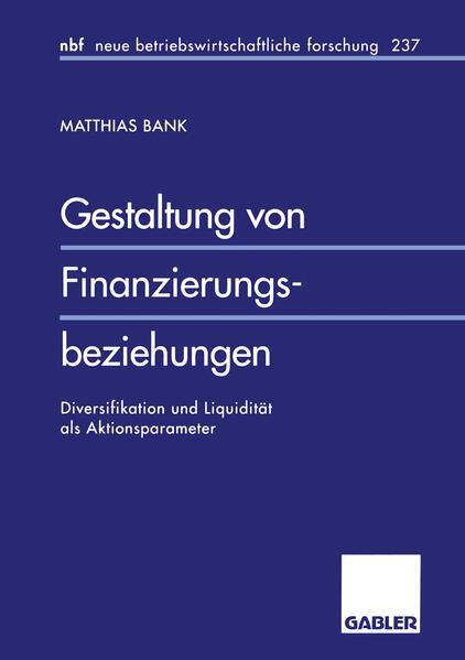 Gestaltung von Finanzierungsbeziehungen - Coverbild