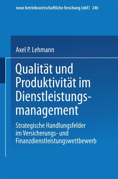 Qualität und Produktivität im Dienstleistungsmanagement - Coverbild