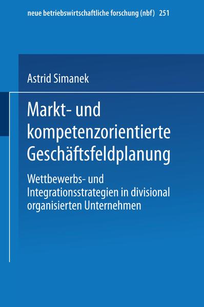 Markt- und kompetenzorientierte Geschäftsfeldplanung - Coverbild