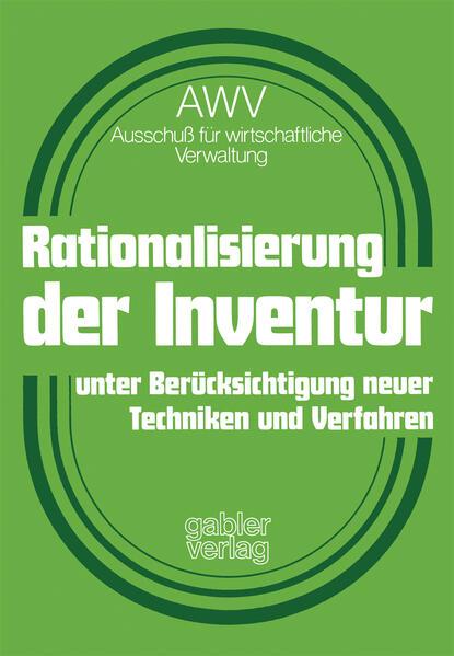 Rationalisierung der Inventur unter Berücksichtigung neuer Techniken und Verfahren - Coverbild