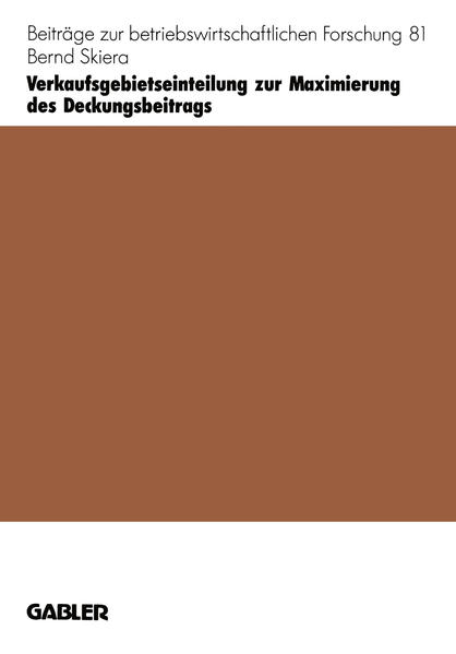 Verkaufsgebietseinteilung zur Maximierung des Deckungsbeitrags - Coverbild