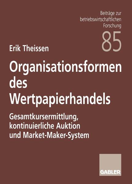 Organisationsformen des Wertpapierhandels - Coverbild