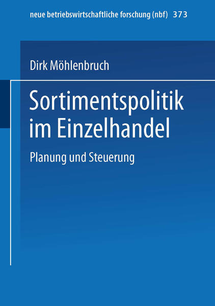 Sortimentspolitik im Einzelhandel - Coverbild