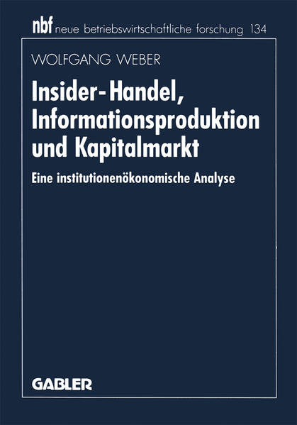 Insider-Handel, Informationsproduktion und Kapitalmarkt - Coverbild